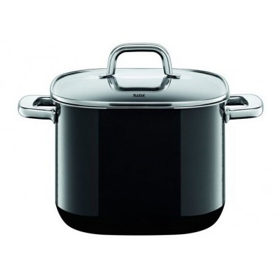 Garnek wysoki 6,8 Quadro Black 22 cm indukcja Silargan Silit