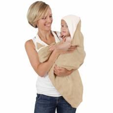 Cuddledry Baby Ręcznik Fartuch, kawowo-biały