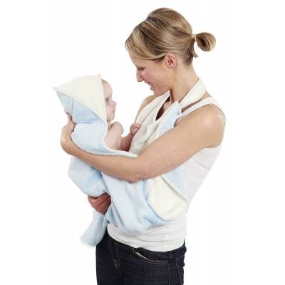 Cuddledry Baby Ręcznik Fartuch, niebiesko-biały