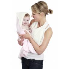 Cuddledry Baby Ręcznik Fartuch, różowo-biały