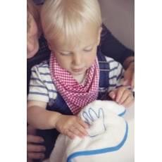 Cuddledry, Super miękki bambusowy ręcznik do rąk, biało-niebieski