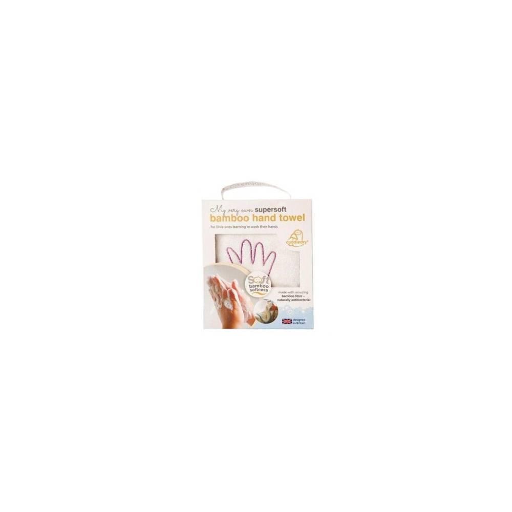 Cuddledry, Super miękki bambusowy ręcznik do rąk, biało-różowy