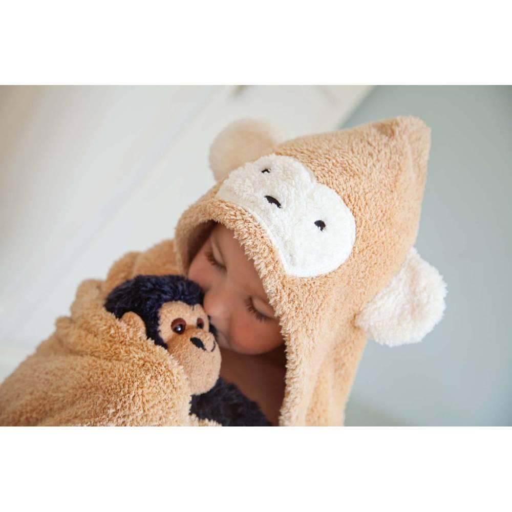 Cuddledry Dziecięcy Ręcznik, Małpka