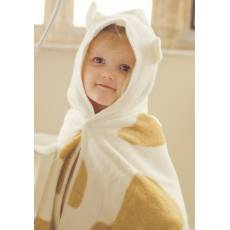 Cuddledry Dziecięcy Bambusowy Ręcznik, Krowie Łatki, Cuddlemoo