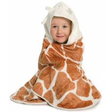 Cuddledry Dziecięcy Bambusowy Ręcznik, Żyrafka, Cuddlesafari
