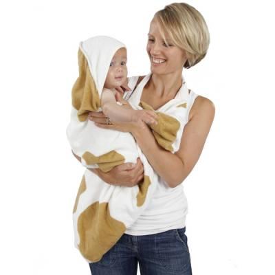 Cuddledry Baby Ręcznik Krowie Łatki