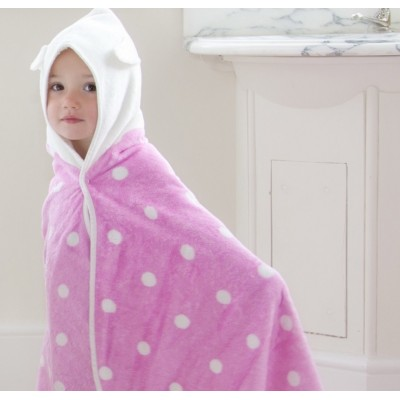 Cuddledry Dziecięcy Bambusowy Ręcznik, Biedronka