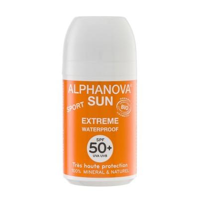 Bio Krem Przeciwsłoneczny w kulce, filtr SPF50+, EXTREME SPORT Alphanova Sun