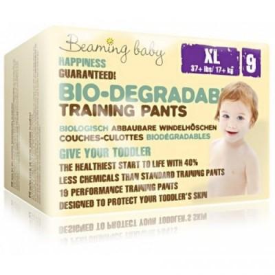 PANTS jednorazowe biodegradowalne pieluchomajtki, XL, 19 szt. Beaming Baby