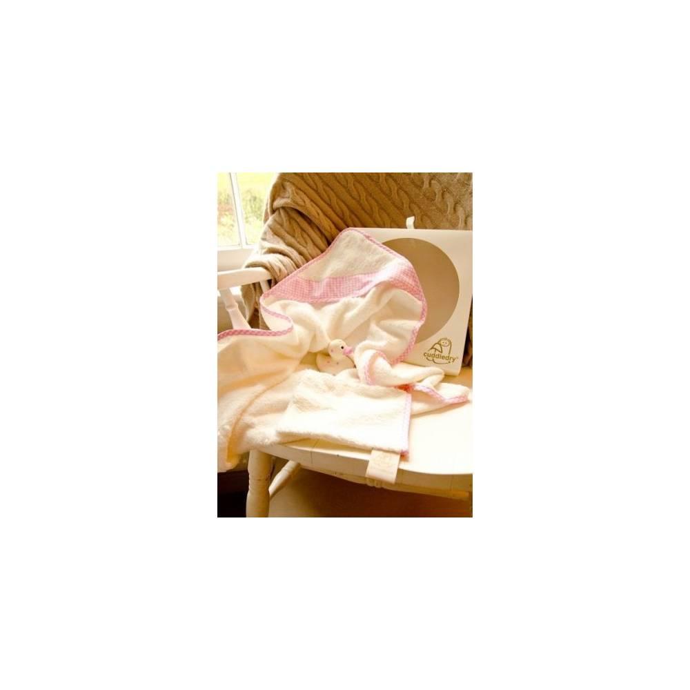Cuddledry Zestaw Prezentowy dla Noworodka, różowy