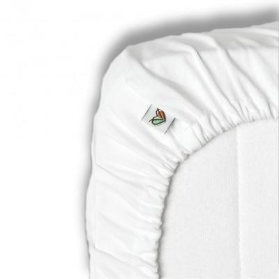 Nanaf Organic, DO SPANIA I KĄPANIA, Prześcieradło do Łóżeczka 120x60 cm, białe