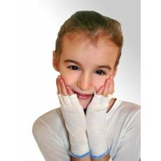 Rękawiczki lecznicze na AZS, bez palców dla dzieci (1 para) DermaSilk