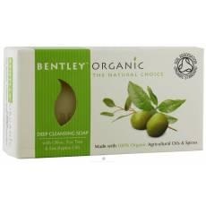 GŁĘBOKO OCZYSZCZAJĄCE Mydło z Oliwek, Olejku Herbacianego i Eukaliptusa Bentley Organic