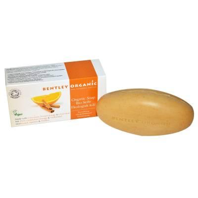 ODŻYWIAJĄCE Mydło z Cynamonem, Słodką Pomarańczą i Goździkami Bentley Organic