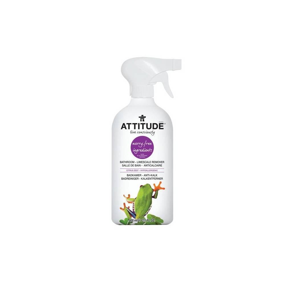 Attitude, Płyn do czyszczenia łazienki Skórka Cytrynowa (Citrus Zest) 800 ml