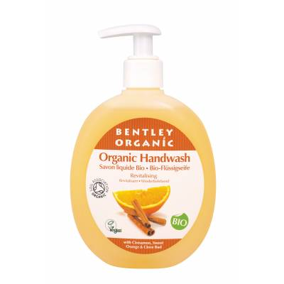 ODŻYWIAJĄCE Mydło  w Płynie z Cynamonem, Słodką Pomarańczą i Goździkami Bentley Organic