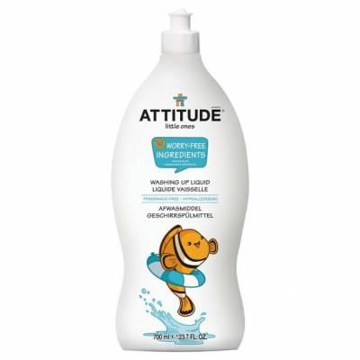 Attitude, Płyn do mycia butelek i akcesoriów dziecięcych Bezzapachowy (fragrance free) 700 ml