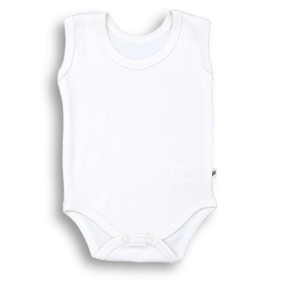 Body na ramiączkach, białe BASIC Nanaf Organic