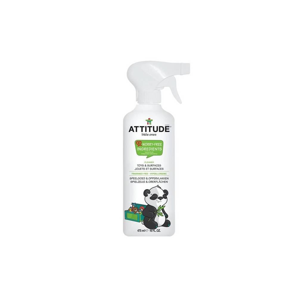 Attitude, Spray do czyszczenia zabawek i powierzchni w pokoju dziecka Bezzapachowy (fragrance free) 475 ml