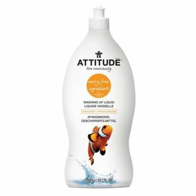 Attitude, Płyn do mycia naczyń Skórka Cytrynowa (Citrus Zest) 700 ml
