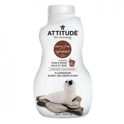 Attitude, płyn do mycia podłóg (drewno i terakota) Skórka Cytrynowa (Citrus Zest) 1050 ml