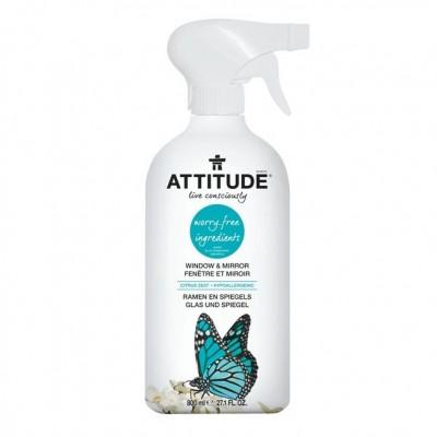 Attitude, Płyn do mycia szyb i luster Skórka Cytrynowa (Citrus Zest) 800 ml