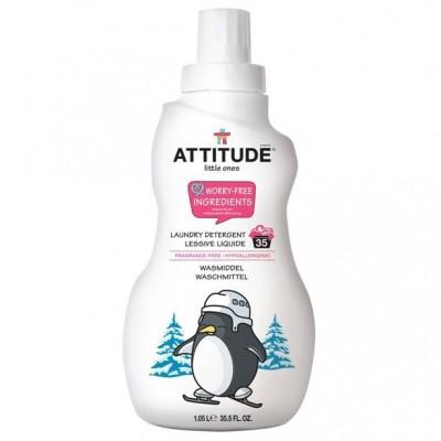 Attitude, Płyn do prania ubranek dziecięcych Bezzapachowy (fragrance free) 35 prań - 1050 ml