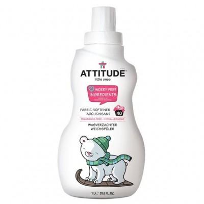 Attitude, Płyn do płukania ubranek dziecięcych Bezzapachowy (fragrance free) 40 płukań - 1000 ml