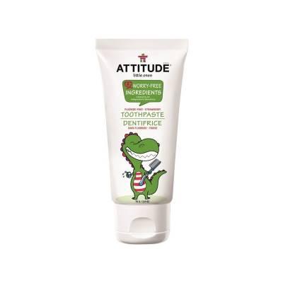 Attitude, Pasta do zębów dla dzieci 0-3 lat bez fluoru Truskawkowa 75 gr