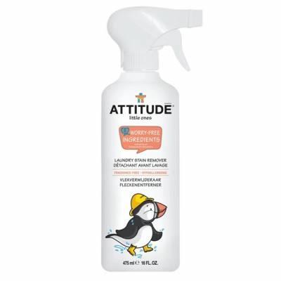 Attitude, Spray do usuwania uporczywych plam z dziecięcych ubranek Bezzapachowy (fragrance free) 475 ml