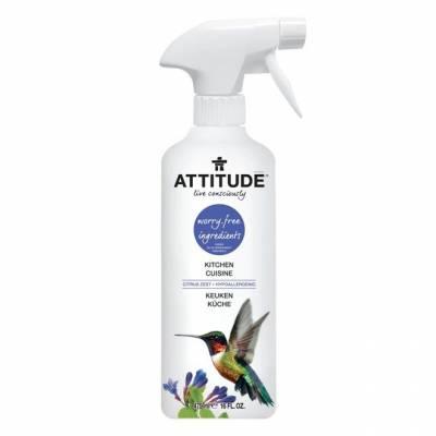 Attitude, Płyn w sprayu do czyszczenia kuchni Skórka Cytrynowa (Citrus Zest) 475 ml