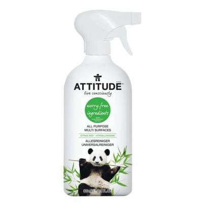 Attitude, Uniwersalny płyn do czyszczenia różnych powierzchni Skórka Cytrynowa (Citrus Zest) 800 ml
