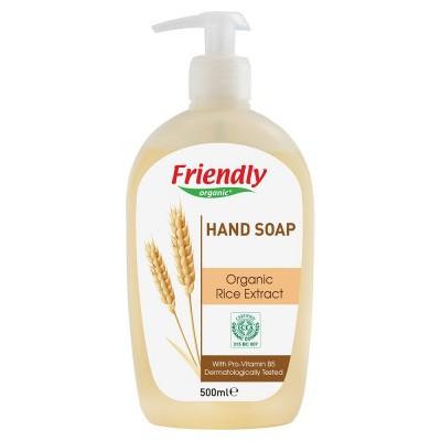 Friendly Organic, Mydło do rąk, ryżowe, 500 ml
