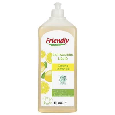 Friendly Organic, Płyn do mycia naczyń, cytrynowy, 1000 ml