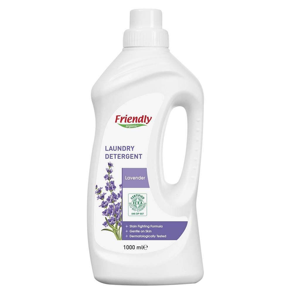 Friendly Organic, Płyn do prania ubrań, lawendowy, 1,9L, 38 prań