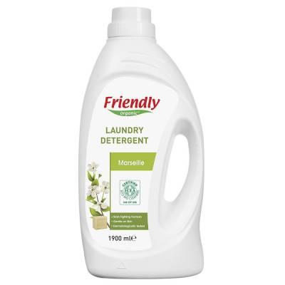 Friendly Organic, Płyn do prania ubrań, mydło marsylskie, 1,9L, 38 prań