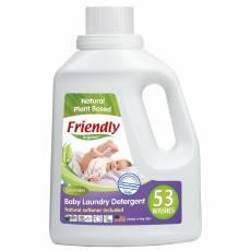 Friendly Organic, Płyn do prania ubranek dziecięcych, lawendowy, 1567 ml, 53 prania