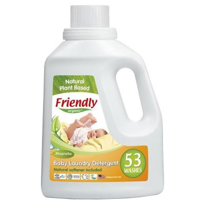 Friendly Organic, Płyn do prania ubranek dziecięcych, magnoliowy, 1567 ml, 53 prania