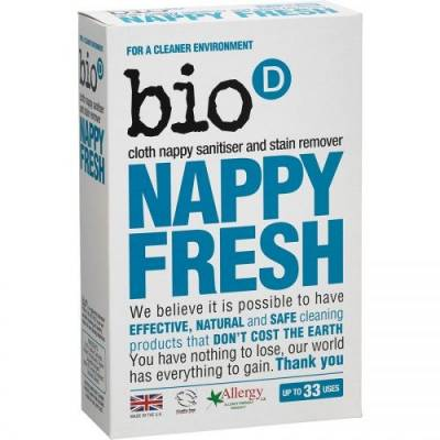 Bio-D, Nappy Fresh, dodatek antybakteryjny do prania pieluch, 500g