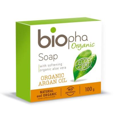 Mydło naturalne bogate w olej Arganowy 100g BIOpha