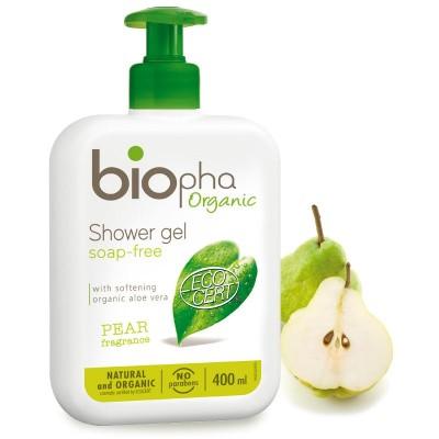 BIOpha, Żel pod prysznic GRUSZKA, butelka z pompką, 400ml