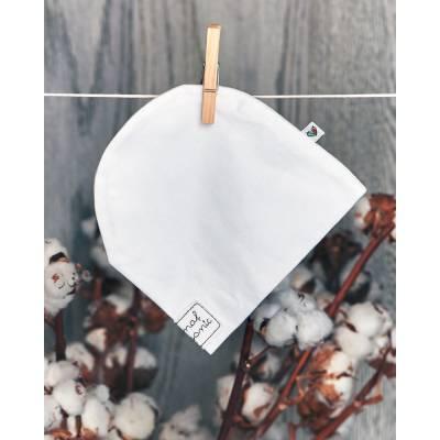 Czapka smerfetka, biała BASIC Nanaf Organic