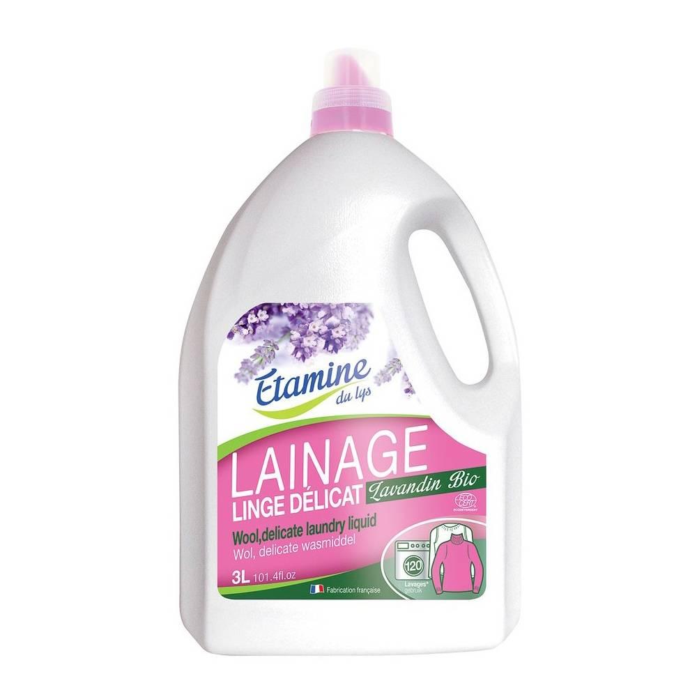 Etamine du Lys, Płyn do prania delikatnych tkanin i wełny organiczna lawenda, 3 l