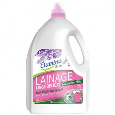Płyn do prania delikatnych tkanin i wełny organiczna lawenda, 3 l- Etamine du Lys