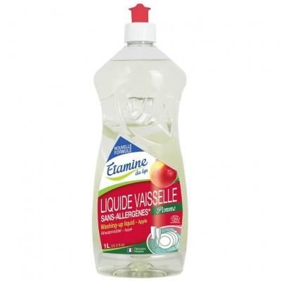 Płyn do mycia naczyń organiczne jabłko, 1 L- Etamine du Lys