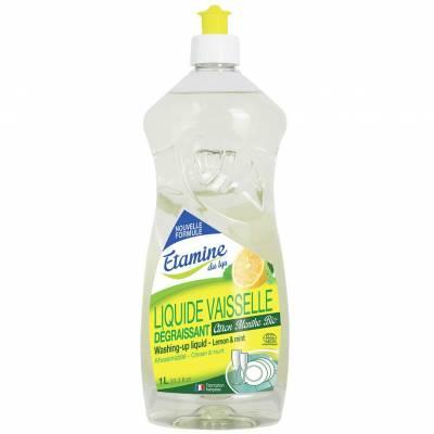 Etamine du Lys, Płyn do mycia naczyń organiczna cytryna i mieta, 1 L
