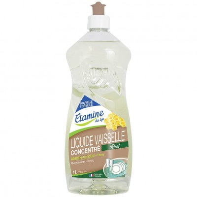 Płyn do mycia naczyń miód i organiczny eukaliptus, 1 L- Etamine du Lys