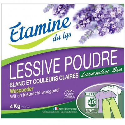 Proszek do prania tkanin białych i o trwałych kolorach organiczna lawenda, 4 kg- Etamine du Lys