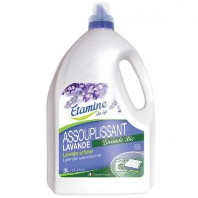 Płyn zmiękczający do płukania tkanin organiczna lawenda, 3L- Etamine du Lys