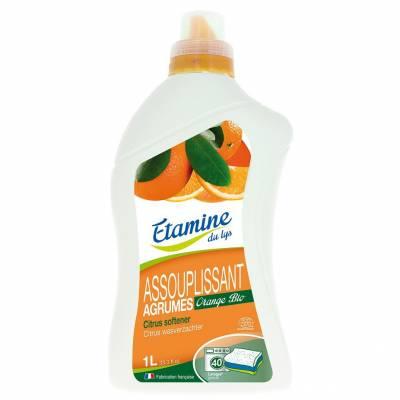 Etamine du Lys, Płyn zmiękczający do płukania tkanin organiczne cytrusy, 1L